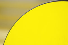 Architecture detail. Yellow curved background. Stock Photography