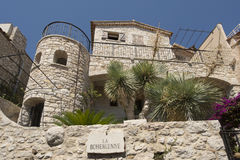 Architecture detail in Èze Village, France Stock Image
