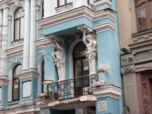 Architecture details of ancient mansion, Kiev Stock Photos