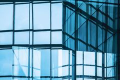 Architecture details Building exterior Glass Facade pattern Reflection royalty free stock photography