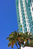 Architecture details of building in Miami Beach, Florida. Royalty Free Stock Images