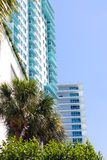 Architecture details of building in Miami Beach, Florida. Stock Photos