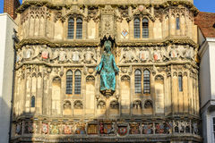 Architecture details of Canterbury cathedral gate Royalty Free Stock Images