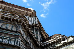 Architecture details of the cathedral of Florence, Italy Royalty Free Stock Images