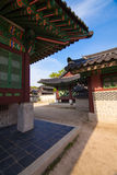 Architecture details of Changdeokgung Palace in Seoul, Korea Stock Image