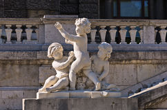 Architecture details of child play at Hofburg palace in Vienna royalty free stock image