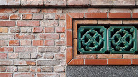 Architecture details in Chinese style, Using brick and porcelain Royalty Free Stock Images