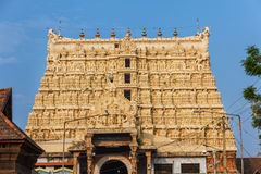 Architecture details of facade Sri Padmanabhaswamy temple in Trivandrum Kerala India Stock Photography