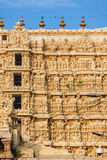 Architecture details of facade Sri Padmanabhaswamy temple in Trivandrum Kerala India Royalty Free Stock Photo