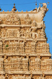 Architecture details of facade Sri Padmanabhaswamy temple in Trivandrum Kerala India Royalty Free Stock Photos