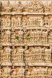 Architecture details of facade Sri Padmanabhaswamy temple in Trivandrum Kerala India Royalty Free Stock Image