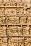 Architecture details of facade Sri Padmanabhaswamy temple in Trivandrum Kerala India Stock Photos