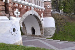 Architecture details of Historical buildings in Moscow park Royalty Free Stock Images