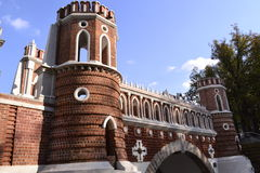 Architecture details of Historical buildings in Moscow park Stock Images