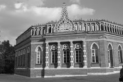 Architecture details of Historical buildings in Moscow park Royalty Free Stock Photography