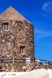 Architecture details of Imerovigli village, Santorini Royalty Free Stock Photos