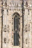 Architecture details of Milan Cathedral, or Il Duomo Stock Images