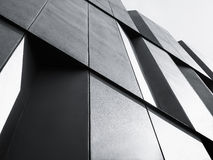 Architecture details Modern Facade building Black and White. Architecture details Modern Facade building Abstract Background Royalty Free Stock Image