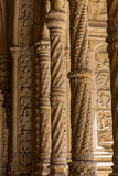 Architecture details of the Monastery or Hieronymites Stock Photography