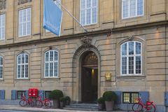 Architecture and details of the Nobis Hotel in Copenhagen city centre Stock Images
