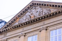 Architecture and details of the Nobis Hotel in Copenhagen city centre Royalty Free Stock Images