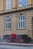 Architecture and details of the Nobis Hotel in Copenhagen city centre Royalty Free Stock Photo