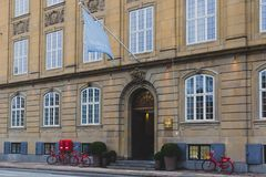Architecture and details of the Nobis Hotel in Copenhagen city centre Royalty Free Stock Photos