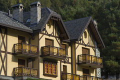 Architecture details in Ponte Legno Stock Photography