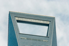 Architecture details Shanghai World Financial Center pudong shan Stock Images