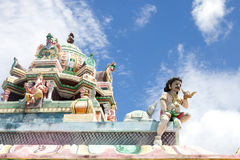 Architecture details of traditional Hindu temple Royalty Free Stock Photos