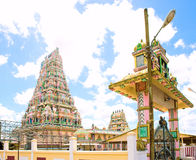 Architecture details of traditional Hindu temple Royalty Free Stock Photo