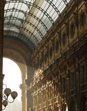 Architecture details of Vittorio Emanuele Gallery. In Milan, Italy Royalty Free Stock Photography