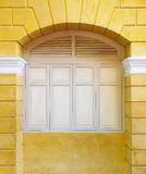 Architecture details Wall with window frame Royalty Free Stock Images