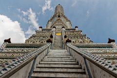 Wat Arun, buddhist temple in Bangkok stock images