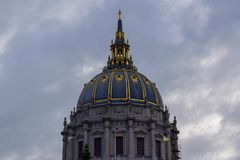Architecture Dome of San Francisco City Hall in Civic Center District, San Francisco, CA stock photo