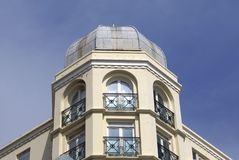 Architecture with domed roof and window balconies Royalty Free Stock Photography