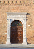 Architecture in the downtown of Ferrara Royalty Free Stock Images
