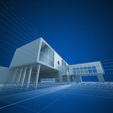 Architecture drafting Royalty Free Stock Photos