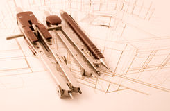 Architecture draw Royalty Free Stock Photography