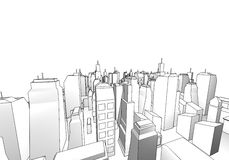 Architecture draw Royalty Free Stock Images