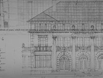 Architecture Drawing Shanghai City Building Stock Photo