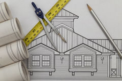 Architecture drawing. Shoot of the House Architecture drawing Royalty Free Stock Photography