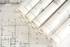 Architecture Drawings 2 Royalty Free Stock Images