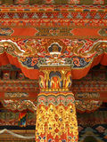 Architecture du Bhutan Photos stock