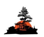 Architecture du Japon illustration stock