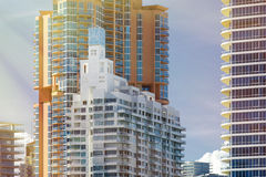 Architecture du sud de plage de Miami Images stock