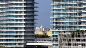 Architecture du sud de plage de Miami photo stock
