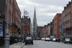 Architecture in Dublin, Ireland. Dublin is the capital and largest city of Ireland. Dublin is in the province of Leinster on Ireland& x27;s east coast, at the Stock Photos