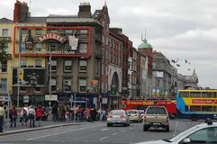 Architecture in Dublin, Ireland. Dublin is the capital and largest city of Ireland. Dublin is in the province of Leinster on Ireland, east coast, at the mouth of Stock Image