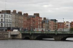 Architecture in Dublin, Ireland. Dublin is the capital and largest city of Ireland. Dublin is in the province of Leinster on Ireland, east coast, at the mouth of Stock Photography